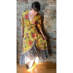 NWT Anthropologie Farm Rio Sunlit Wrap dress